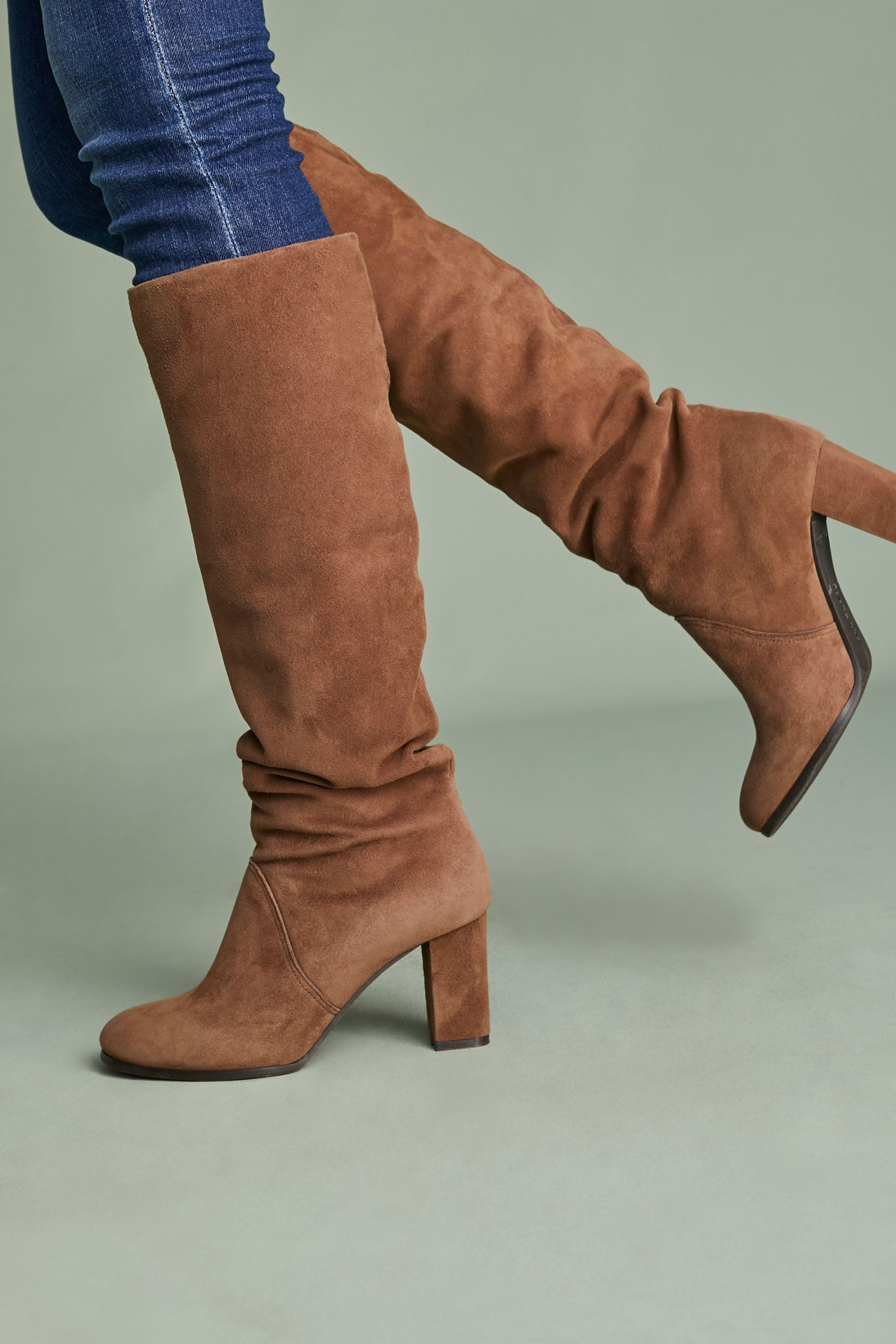 e3a572ddb All Black Slouchy Knee-High Boots | Anthropologie