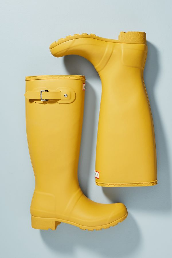 Lemon yellow Hunter Boots Original Tall Rain Boots - Anthropologie