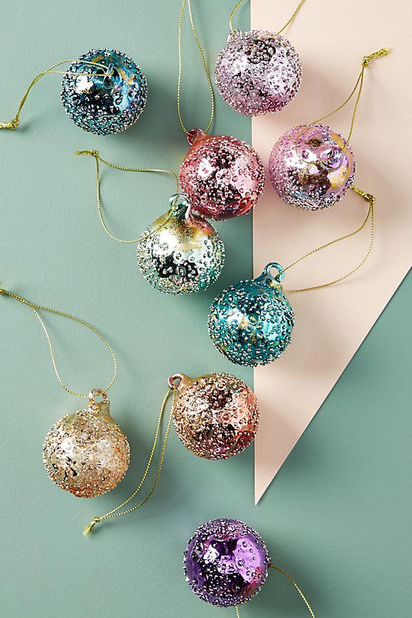 Christbaumkugeln Ornament.Dewdrop Ornaments Set Of 9