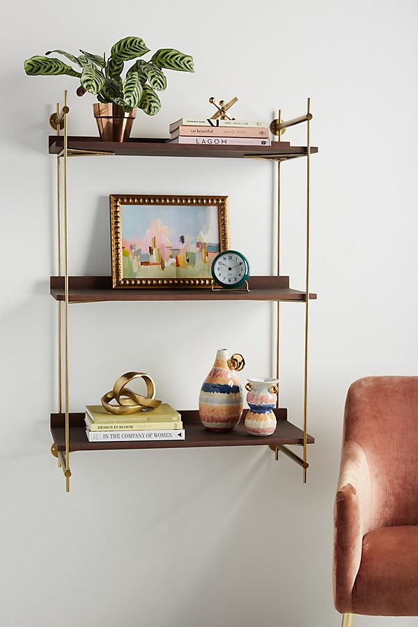Slide View: 1: Astoria Wall Mounted Shelving Unit