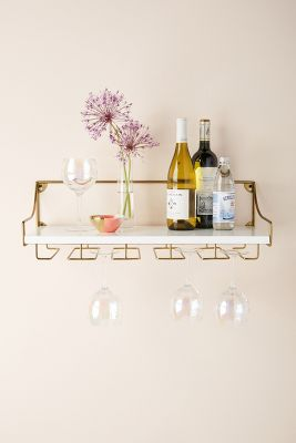 Mayfair Wall Mounted Wine Glass Shelf Anthropologie