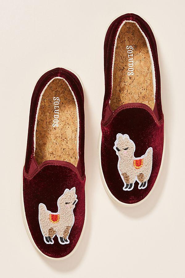 120f23acf742 Soludos Velvet Llama Sneakers