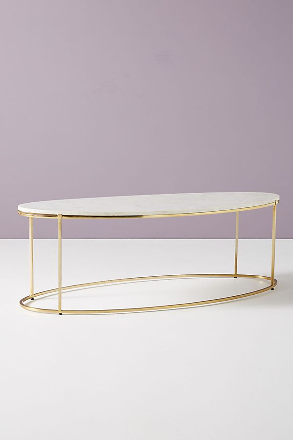 Leavenworth Oval Marble Coffee Table Anthropologie