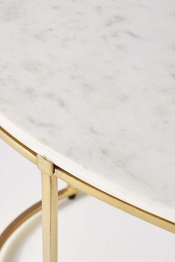 White Marble Coffee Table