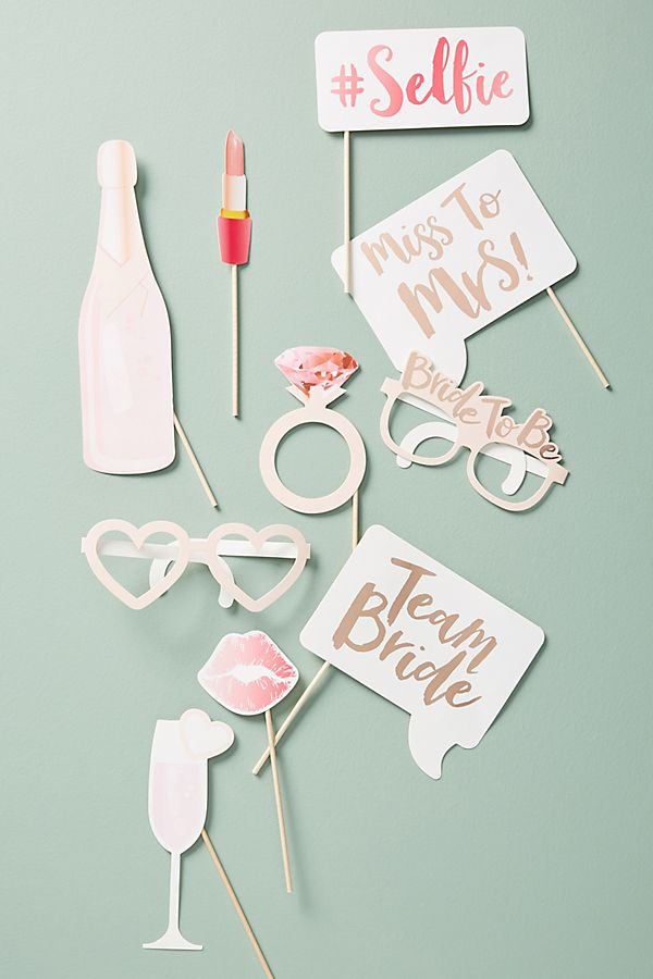 Bachelorette Photo Booth Props, Set of 10