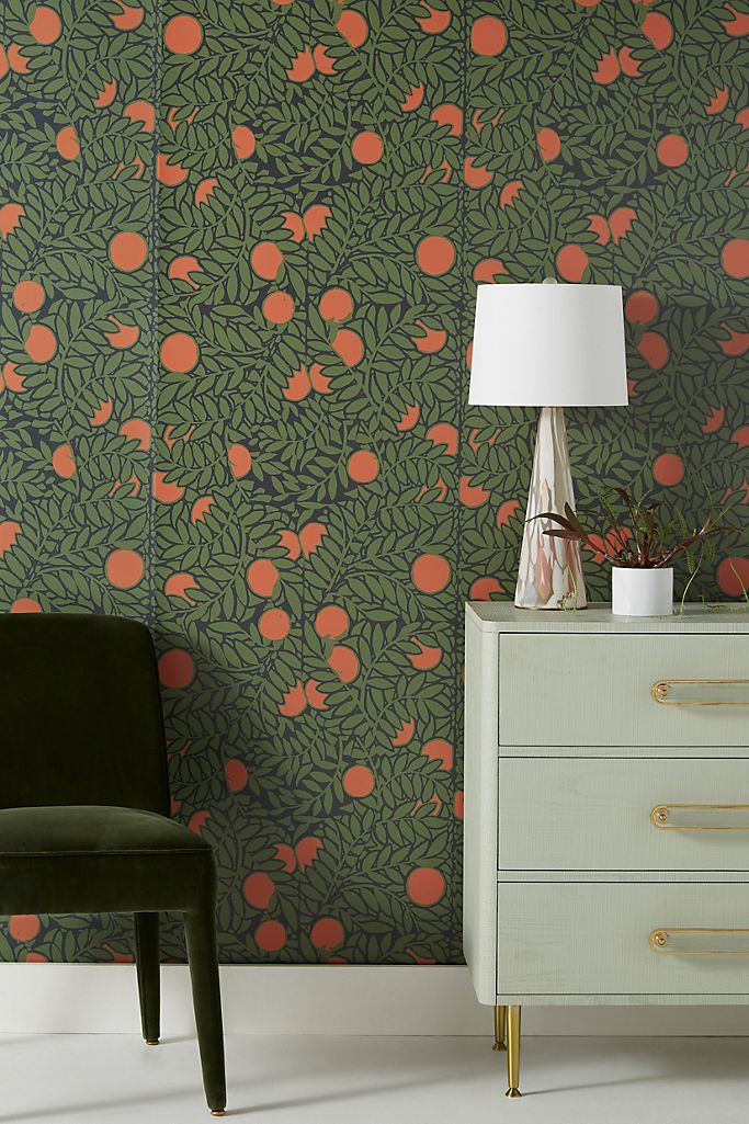 Orange Grove Wallpaper Anthropologie