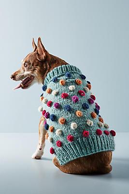 Slide View: 1: Pom Pom Dog Sweater