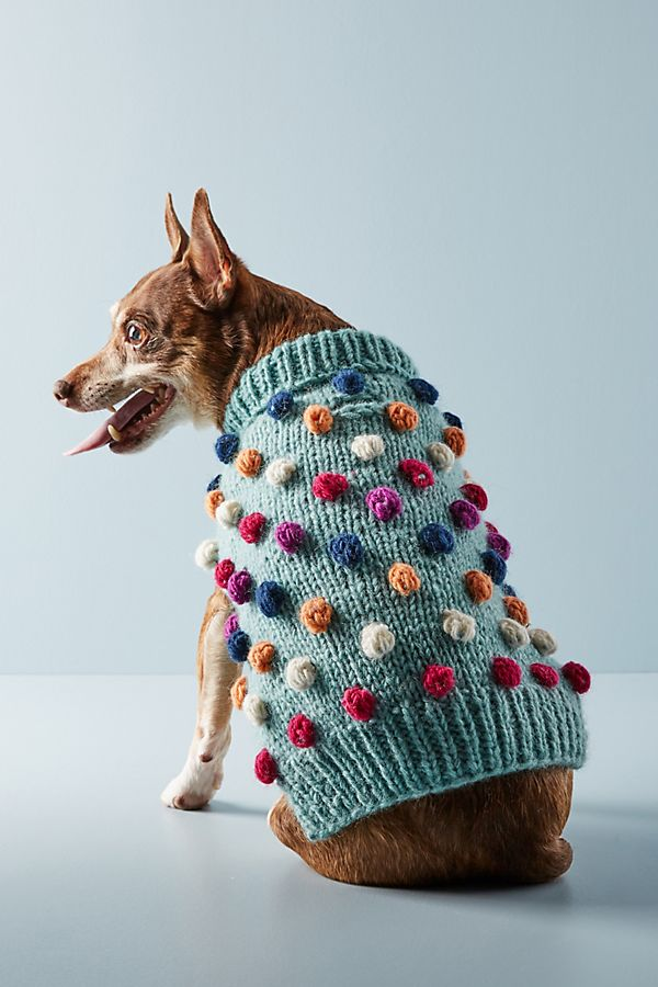 Slide View: 1: Pom Pom Dog Sweater