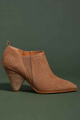 Sarto By Franco Sarto Perforated Suede Newbury Booties by Sarto By Franco Sarto