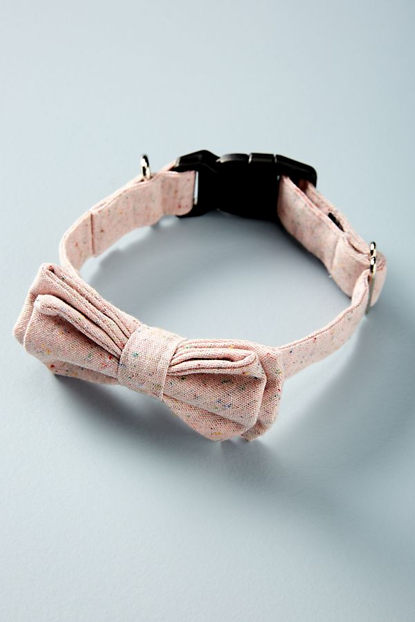 Slide View: 1: Rose Bow Tie Dog Collar