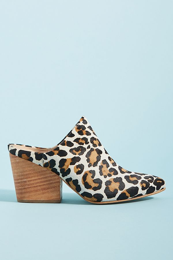 2c37655ee821 ABLE Leopard-Printed Mules