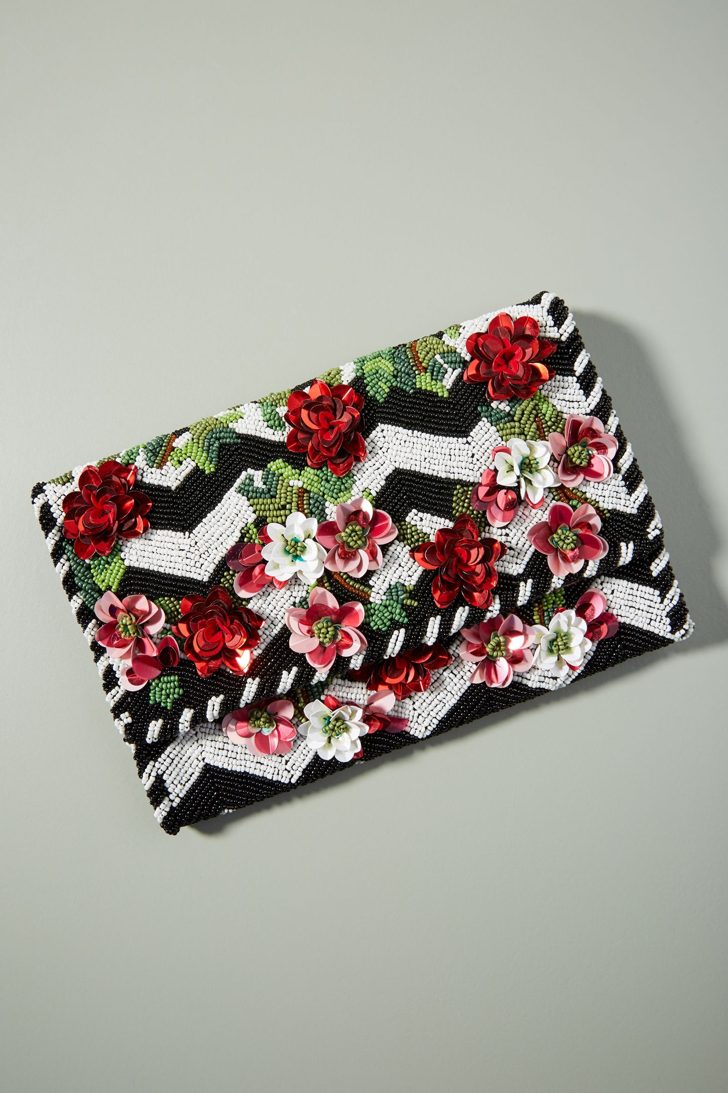26eafdcfbd4 Climbing Roses Beaded Clutch | Anthropologie