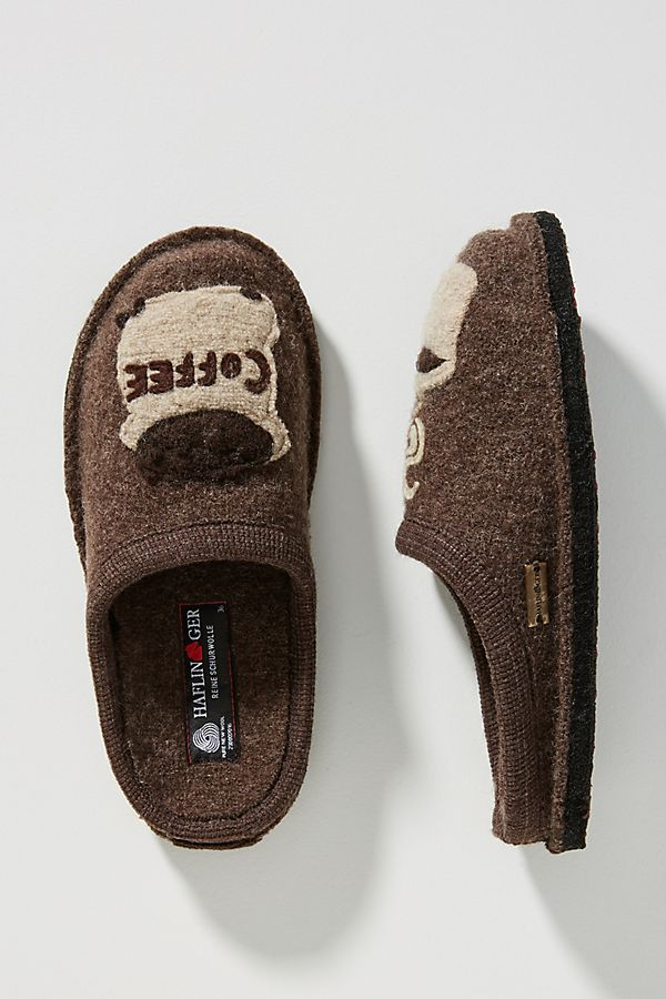 2a8d704575fc Haflinger Coffee Slippers