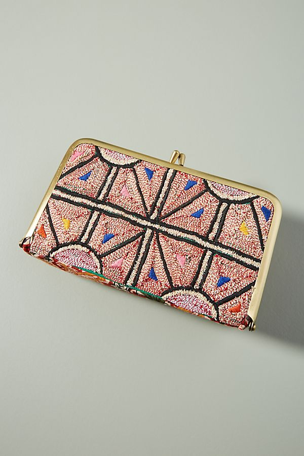 ee3ad981a9 Anthropologie Moroccan Tile Print Clutch