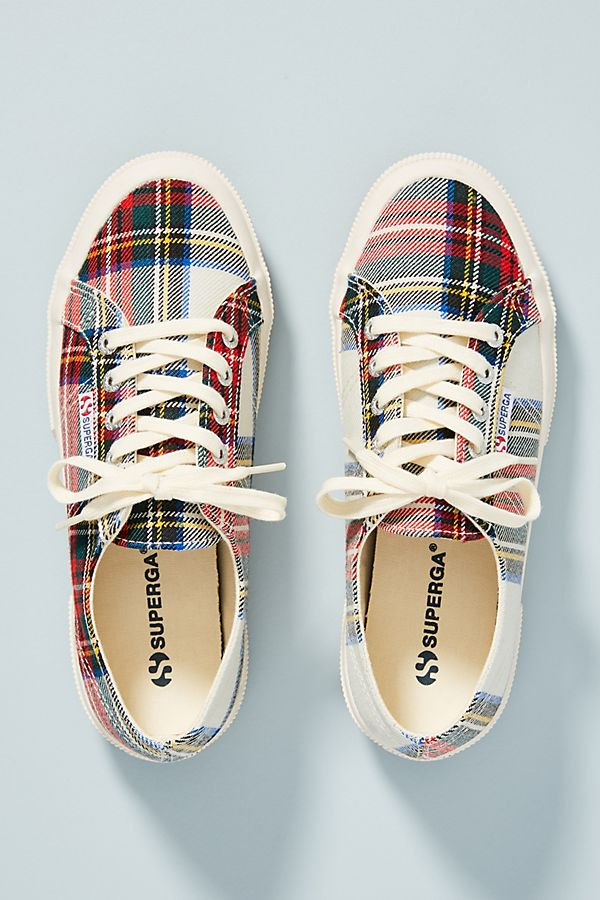 6414b5ce2eaf Slide View  1  Superga Tartan Sneakers