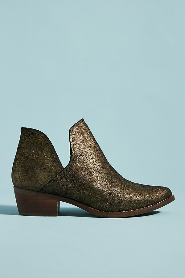 85697aaf1 Musse & Cloud Metallic Booties | Anthropologie