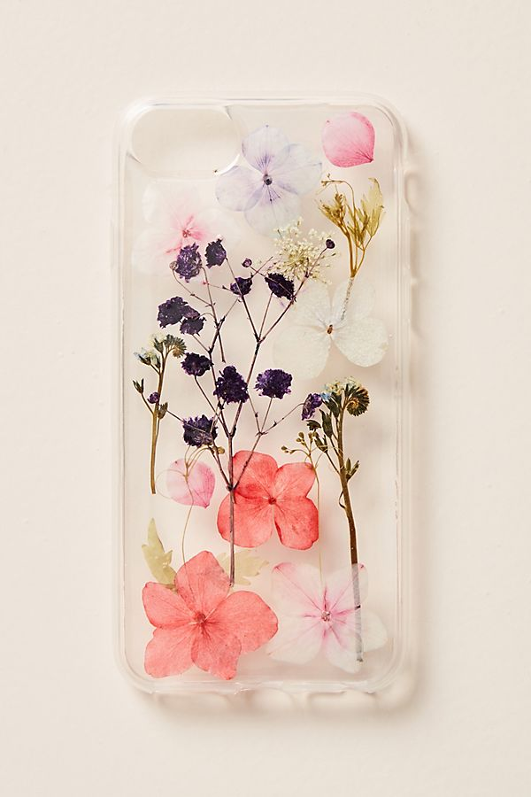 premium selection b5aa1 46f07 Pressed Flowers iPhone Case