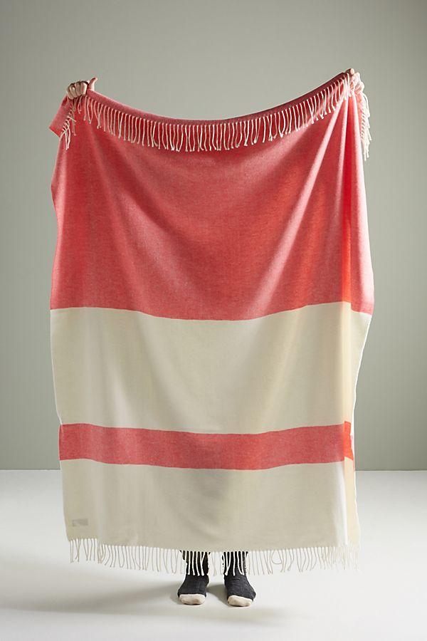 Slide View: 1: Sydney Herringbone Stripe Throw Blanket