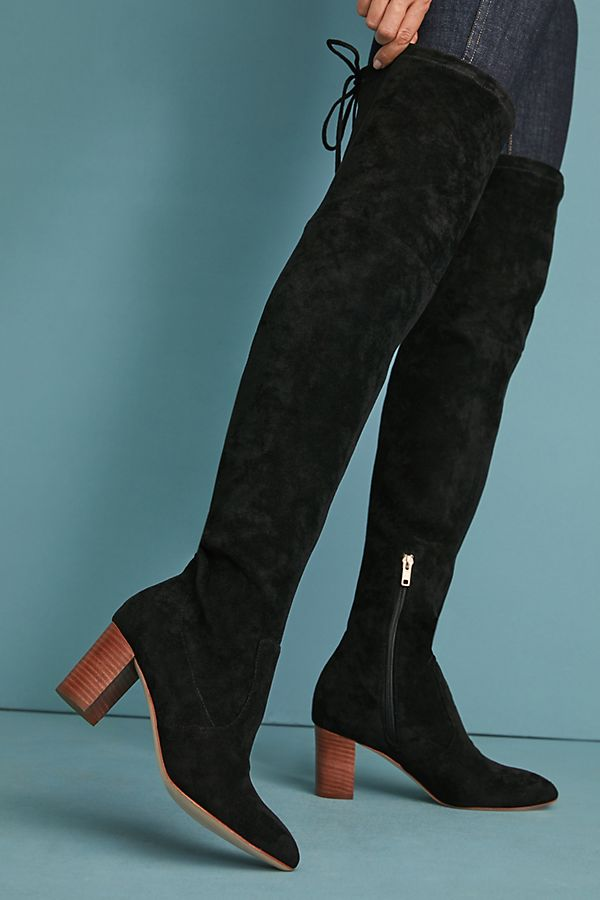 a0abf42a609 Anthropologie Over-the-Knee Tied-Back Boots