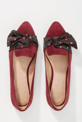 Anthropologie Kerchief Bow Flats by Anthropologie