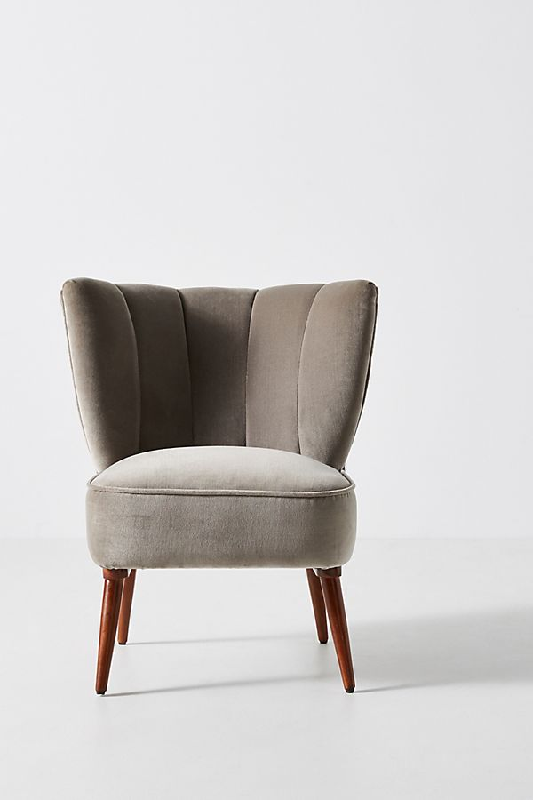 Fluted Petite Accent Chair Anthropologie