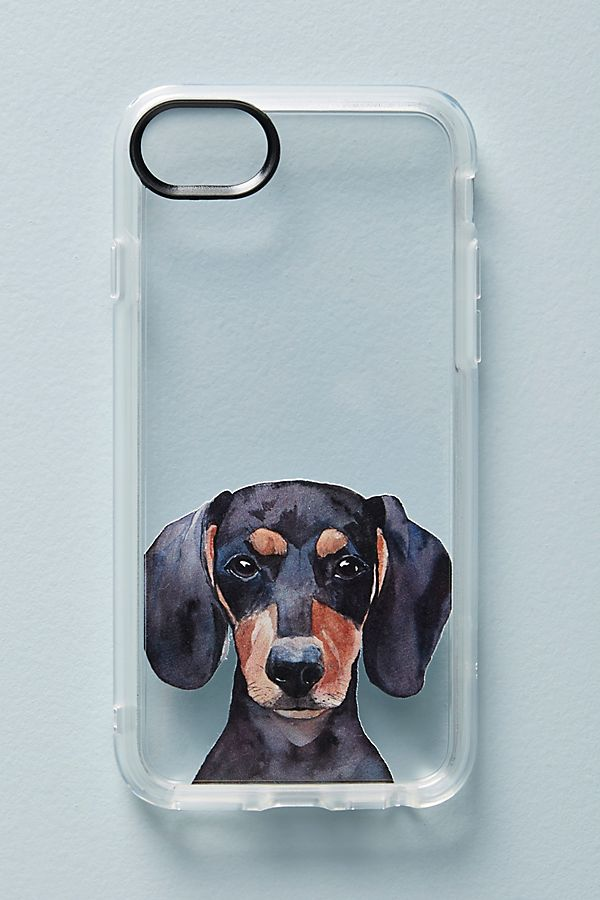 new products 5f929 19701 Watercolor Dachshund iPhone Case