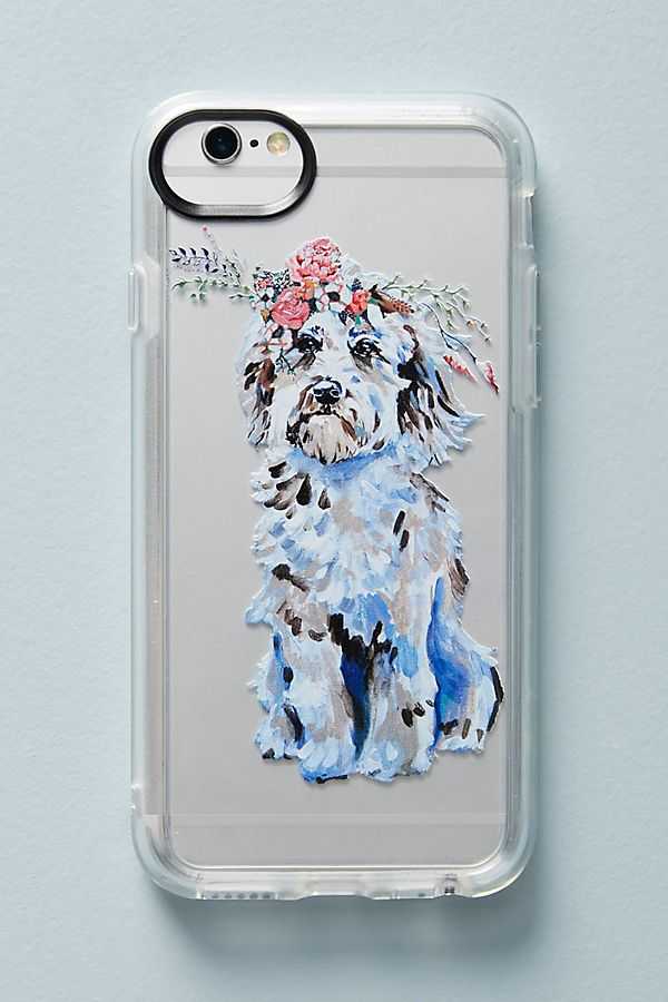Slide View: 1: Casetify Dog in Bloom iPhone Case
