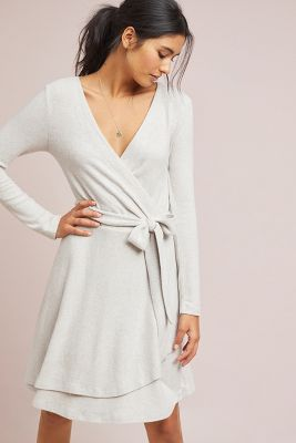 c8f510bc3cb10 CloudFleece Wrap Dress