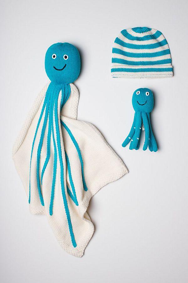 Slide View: 1: Estella Organic Octopus Blanket Baby Gift Set