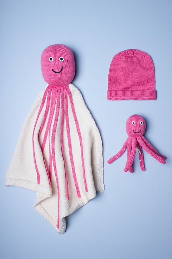 Slide View: 1: Estella Organic Octopus Blanket Baby Gift Set