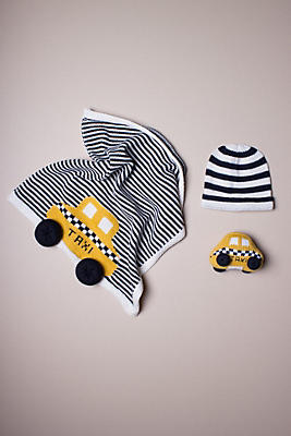 Slide View: 1: Estella Organic Taxi Blanket Baby Gift Set
