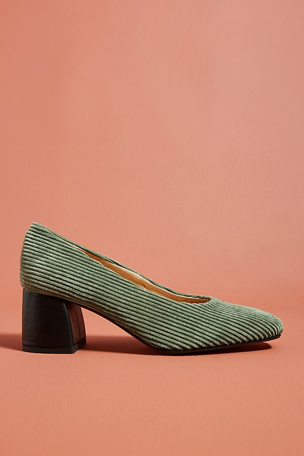 2af782f3a4b Slide View  1  Anthropologie Corduroy Block Heels