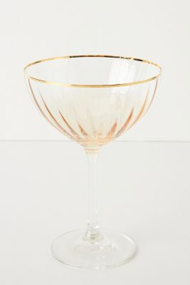 Waterfall Coupe Glasses Set Of 4 Anthropologie