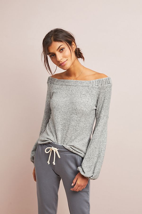 0dd0a703f7dad CloudFleece Off-The-Shoulder Top