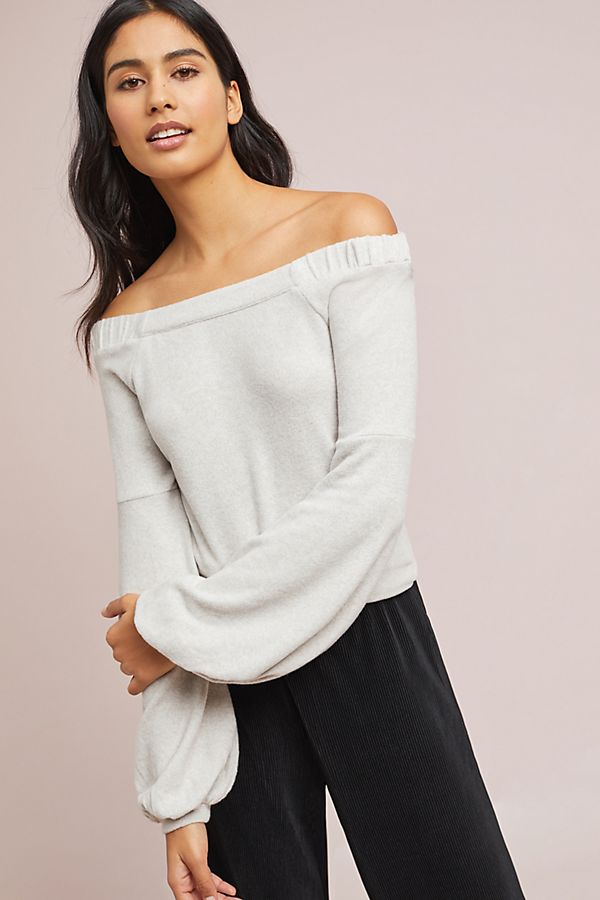 4fb14055213fb CloudFleece Off-The-Shoulder Top