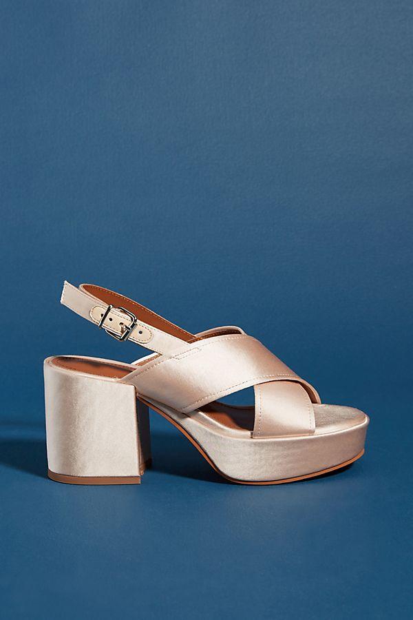 34e8e59e16d5 Lola Cruz Silk Platform Heels