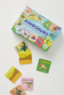 Dinosaur Matching Memory Game by Anthropologie