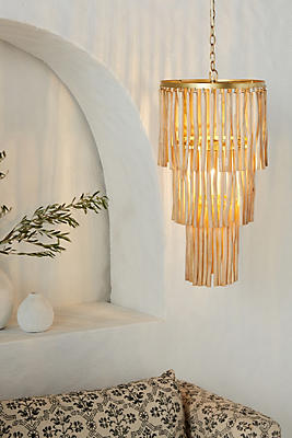 Slide View: 1: Natural Chime Chandelier