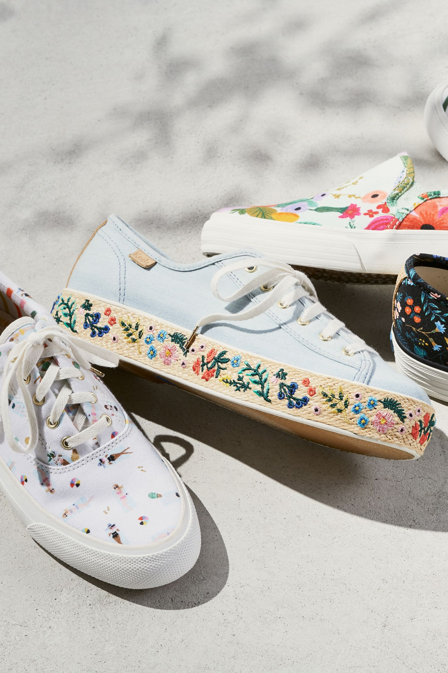 64cf81c05849 Slide View  5  Keds x Rifle Paper Co. Rosalie Embroidered Triple Kick  Sneakers