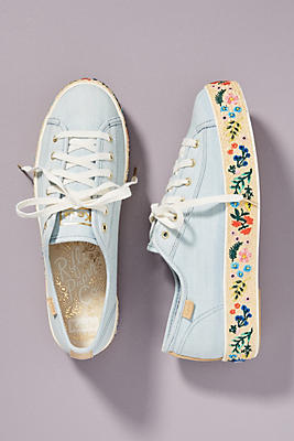 Keds X Rifle Paper Co. Rosalie Embroidered Triple Kick Sneakers by Keds