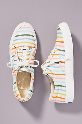 Slide View: 1: Keds x Rifle Paper Co. Anchor Happy Stripe Sneakers