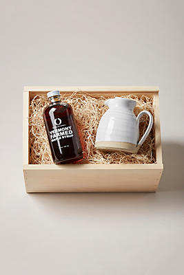 Slide View: 1: Farmhouse Pottery Bell Pitcher and Maple Syrup Gift Set