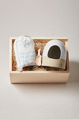 Slide View: 1: Farmhouse Pottery Salt and Cellar Gift Set