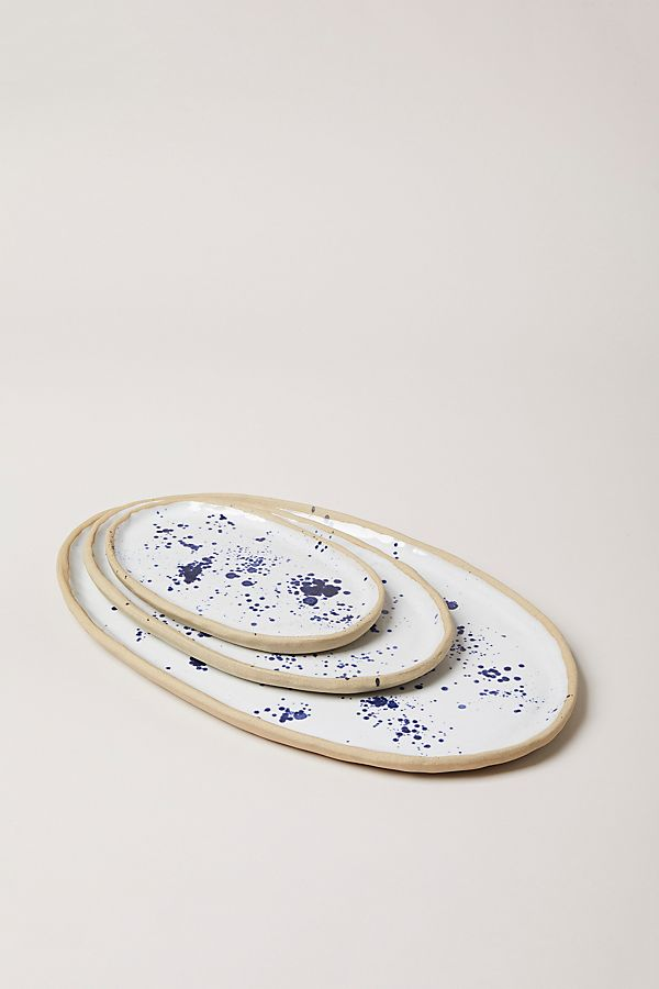 Slide View: 1: Farmhouse Pottery Spattered Platter