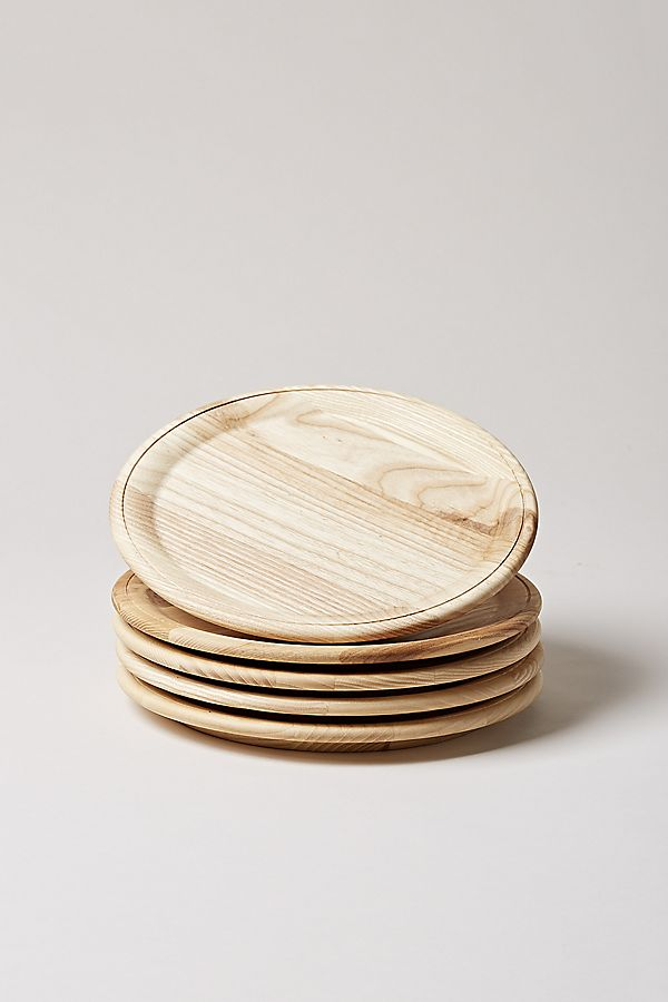 Slide View: 1: Farmhouse Pottery Wooden Plate
