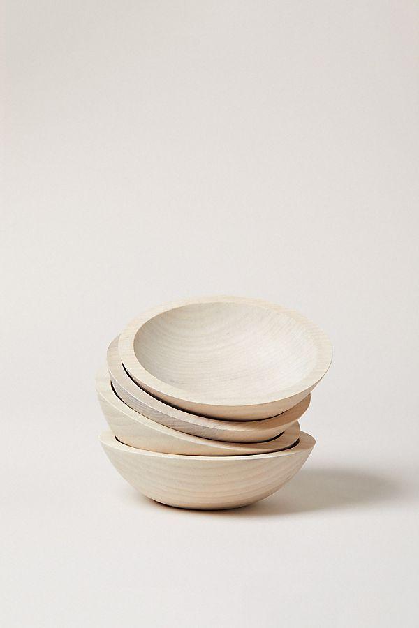 Slide View: 1: Farmhouse Pottery Wooden Bowl Set