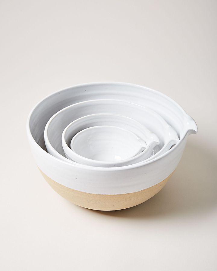 Slide View: 1: Farmhouse Pottery Pantry Bowl Set