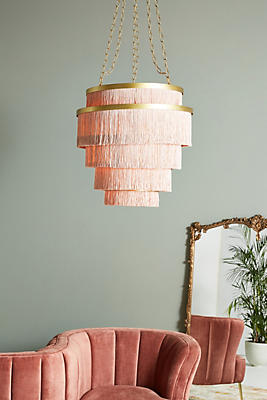 Aloha Fringe Chandelier by Anthropologie