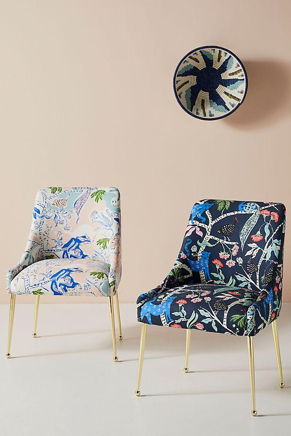 Slide View: 1: Midnight Jasmine Elowen Dining Chair
