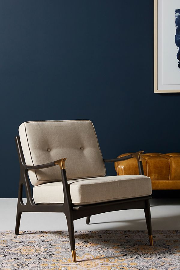 Slide View: 1: Linen Haverhill Chair